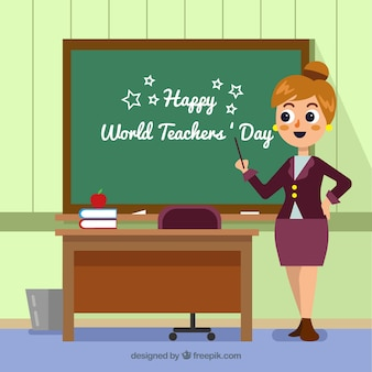 Happy world teachers' day background