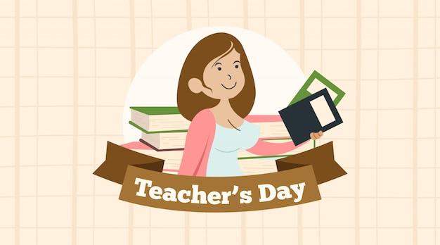 Happy world teachers' day illustration vector