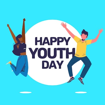 Happy youth day with happy people
