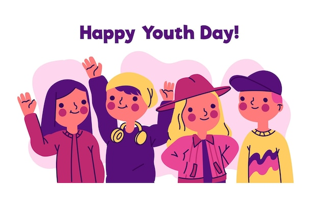 Happy youth day with young people