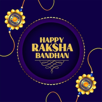 Hapy raksha bandhan hindu festival greeting card design