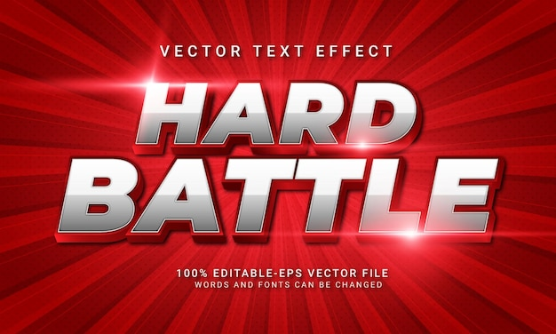 Hard battle 3d text style effect