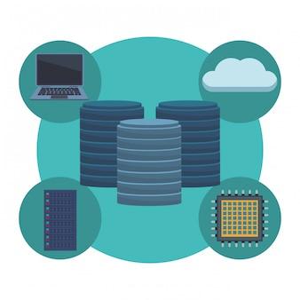 Hard drive with cloud