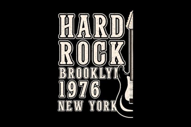 Hard rock brooklyn typography design