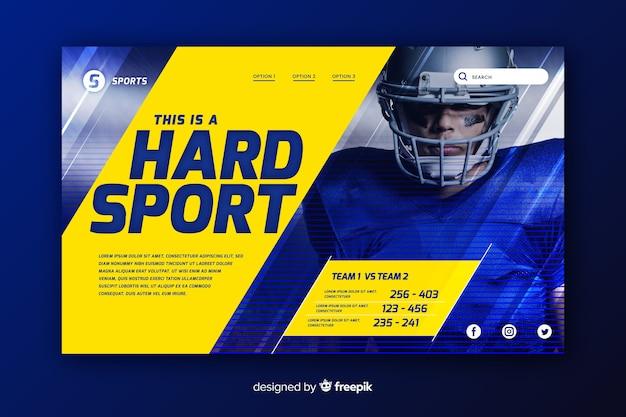 Hard sport landing page