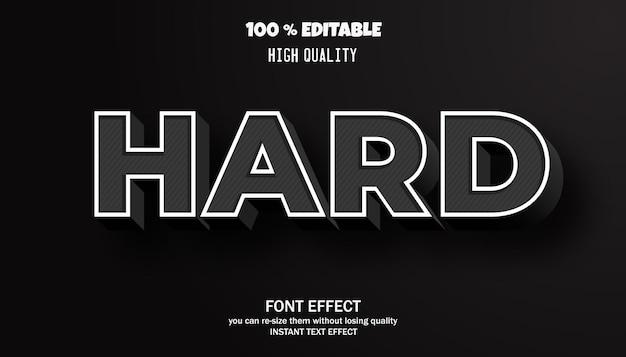 하드 텍스트, 편집 가능한 글꼴 효과