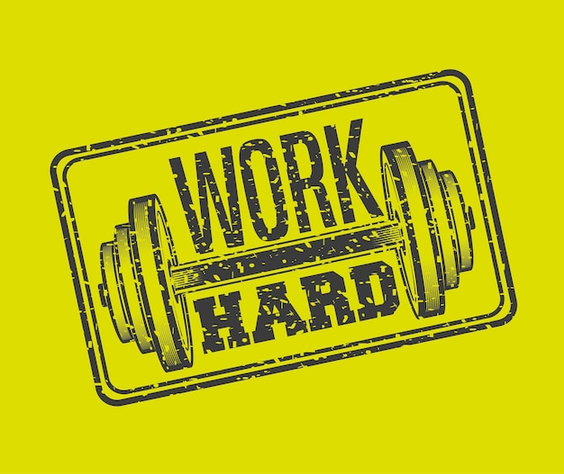Hard work in the gym design, vector illustration eps10 graphic