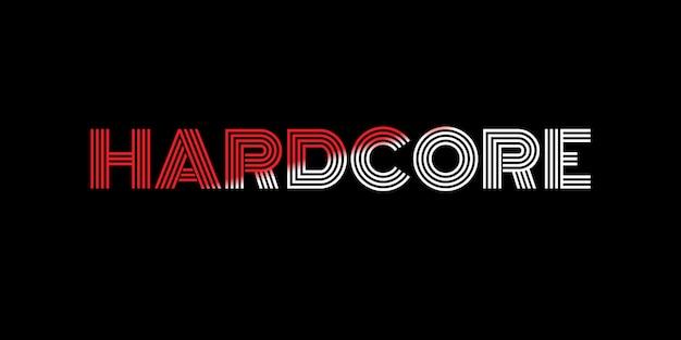 Hardcore text effect font