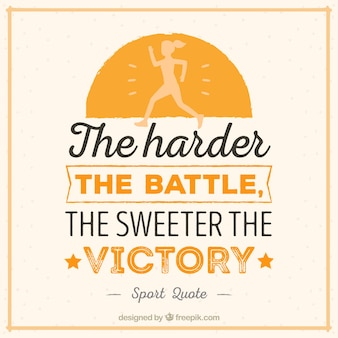 The harder the battle lettering