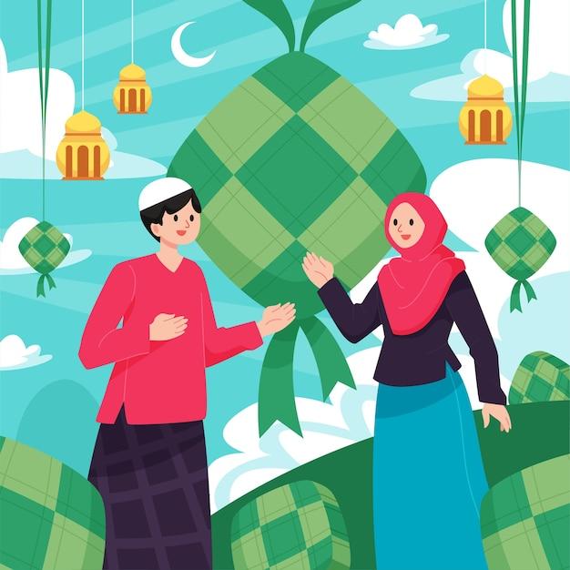 Hari raya haji illustration