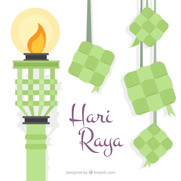 Hari raya torch background