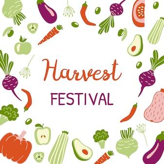 Harvest festival bright banner.