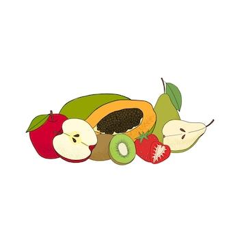 果物のクリップアートを収穫する