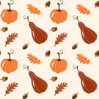 Harvest products seamless pattern.  background with vegetables.design elements for thanksgiving day