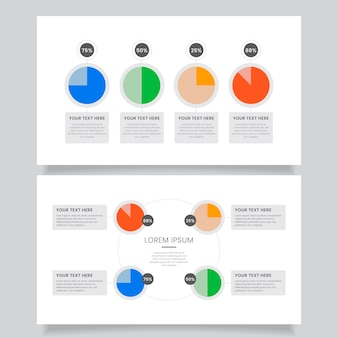 Harvey ball diagrams infographic template