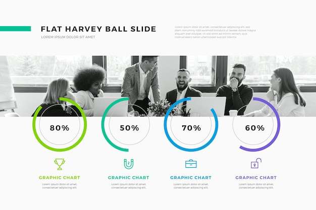 Harvey ball diagrams infographic
