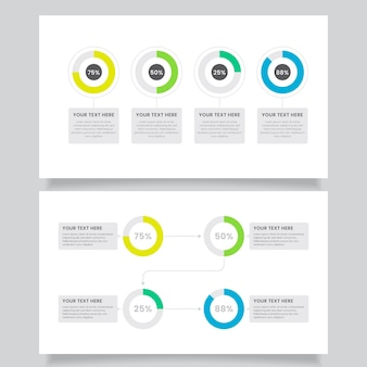 Harvey ball diagrams infographic