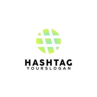 Hashtag 다채로운 로고 디자인 서식 파일