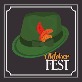 Hat green leaf accessory cloth traditional oktoberfest icon