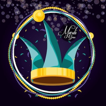 Hat jester of mardi gras celebration