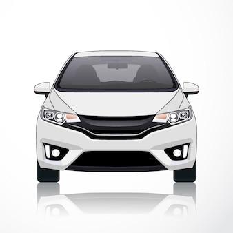 Векторный шаблон автомобиля на белом фоне. бизнес-седан изолированы. модель hatcback или короткий седан.