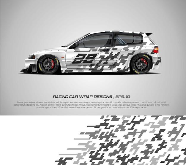 Hatchback car wrap for race