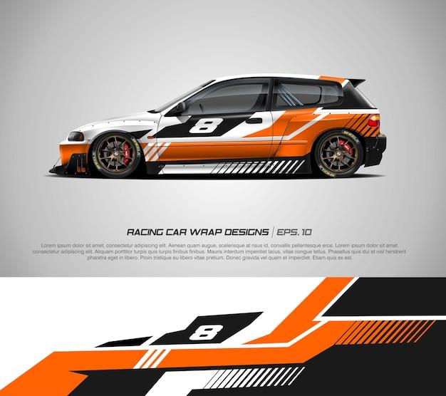 ハッチバックカーラップレーシングカラーリング