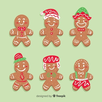 Hats gingerbread man cookies christmas collection