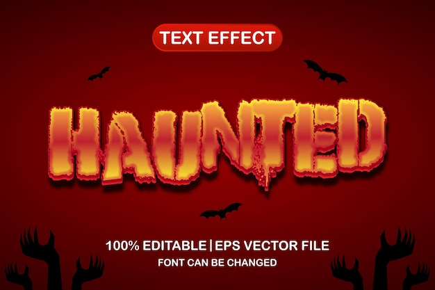 Haunted 3d editable text effect
