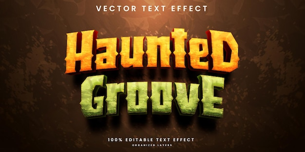 Haunted groove editable text effect