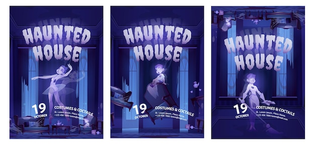 Haunted house flyers