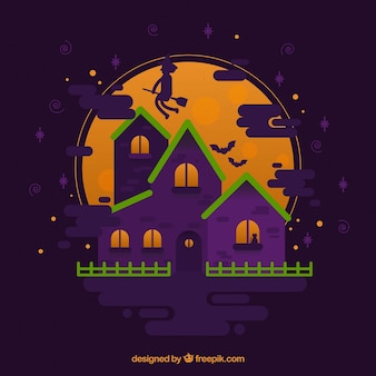 Haunted house with modern style