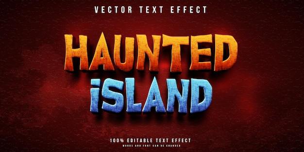 Haunted island editable text effect