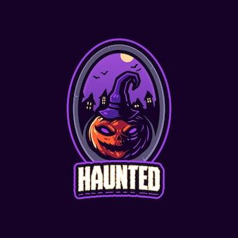 Шаблон логотипа талисмана с привидениями
