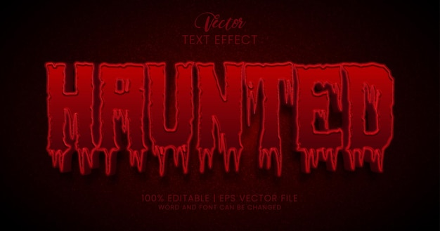 Haunted text, horror and scary text effect style