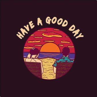 良い一日を。Tシャツデザイン