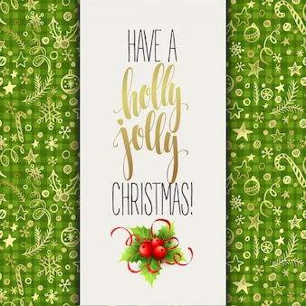 홀리 졸리 크리스마스 인사말 카드를