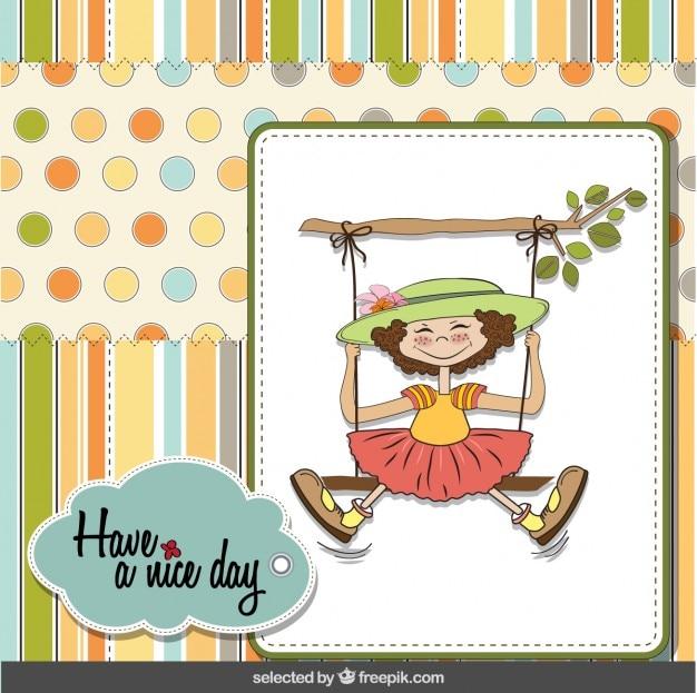 素敵な一日のカードを持っています
