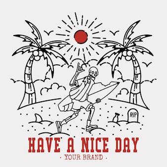 좋은 하루 되세요 스티커 또는 빈티지