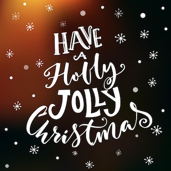 Have a holly jolly christmas. vintage typography vector design on dark vector background.