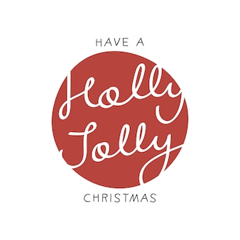 Have a holly molly christmas sticker
