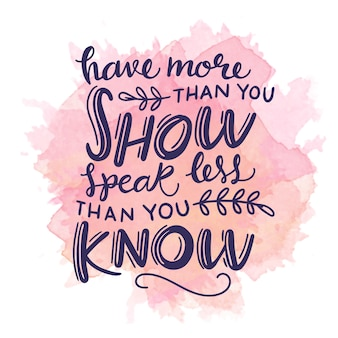 Have more than you show quote on watercolour stain