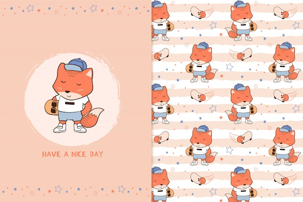 Have a nice day fox pattern