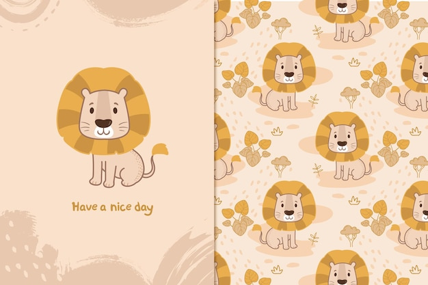 Have a nice day lion pattern