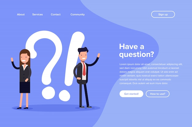 Have a question landing page