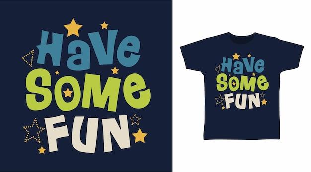 재미있는 스타 타이포그래피 티셔츠 디자인 컨셉을 가져보세요
