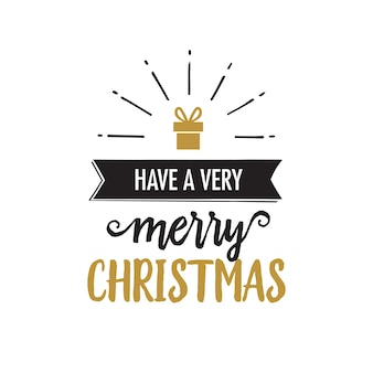 Have very merry christmas lettering