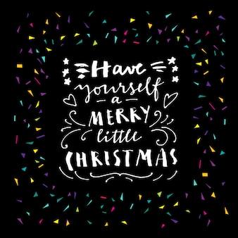 良きクリスマスを。紙吹雪のメリークリスマスカード