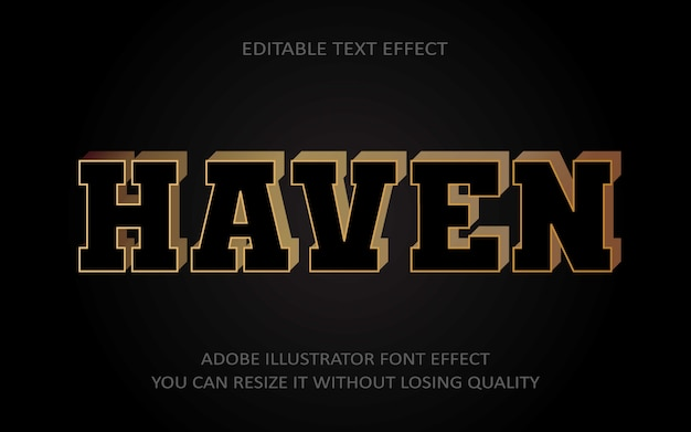 Haven editable text effect