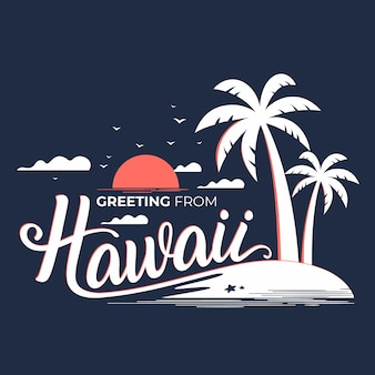 Hawaii lettering